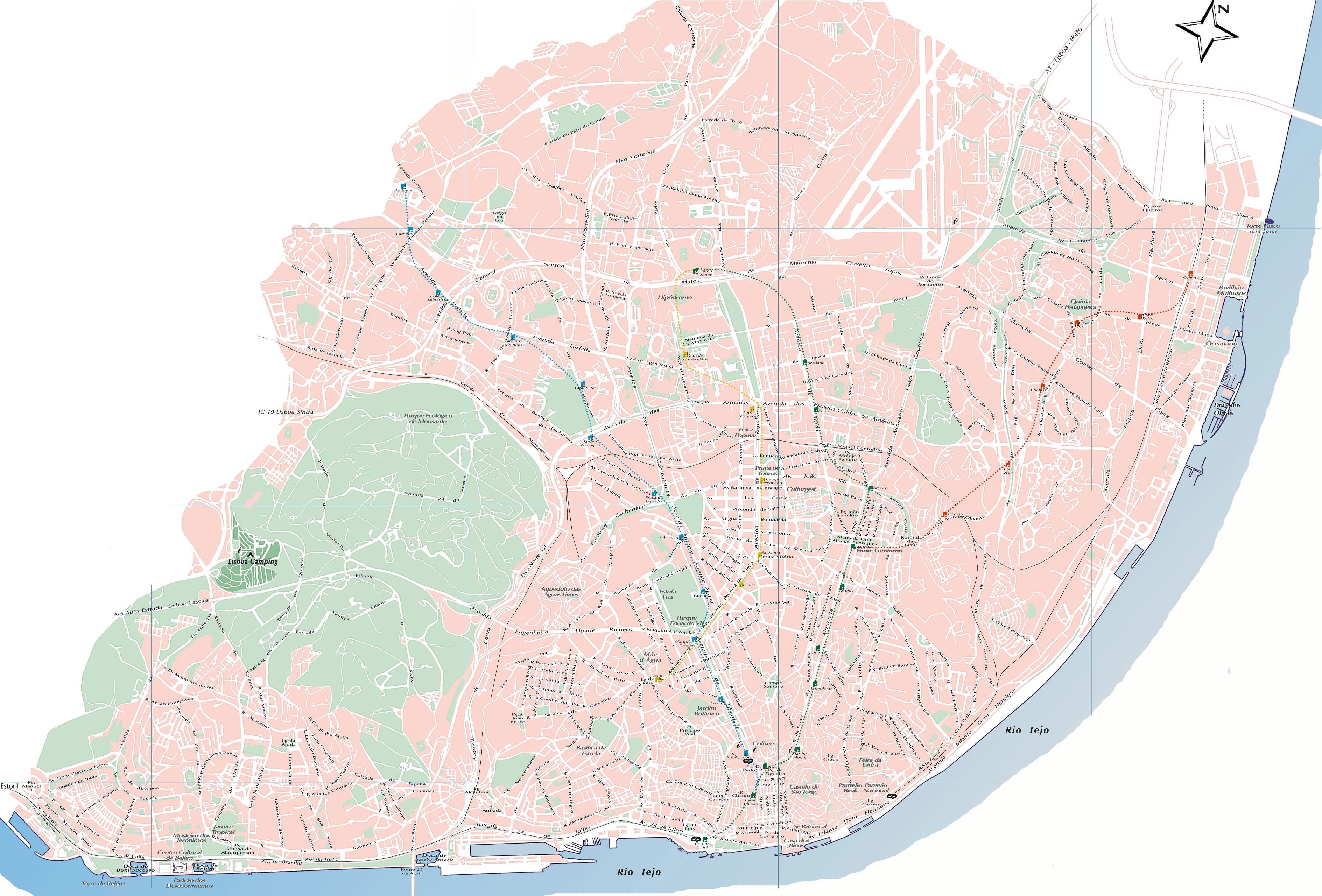 mapa do lisboa Mapa de Lisboa | .visitportugal.com mapa do lisboa