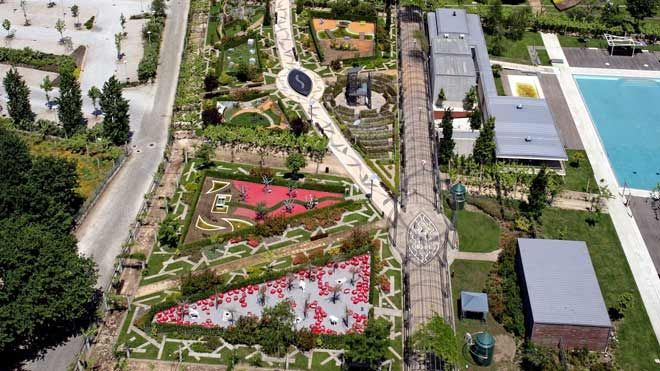 Festival Internacional de Jardins - vista aérea Ort: Ponte de Lima Foto: CM Ponte de Lima
