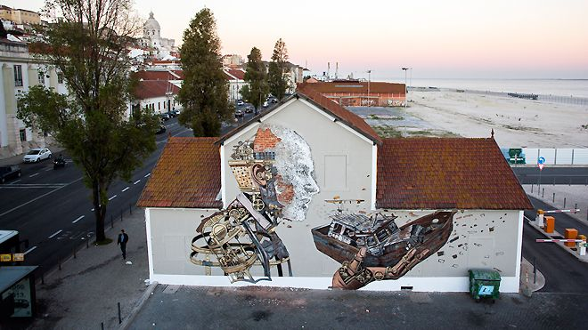 Vhils / Pixel Pancho Local: Lisboa Foto: Alexander Silva