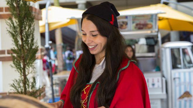 Madeira_Traditional costume with the Carapuça Lieu: Madeira_Mercado dos Lavradores Photo: ©GregSnell