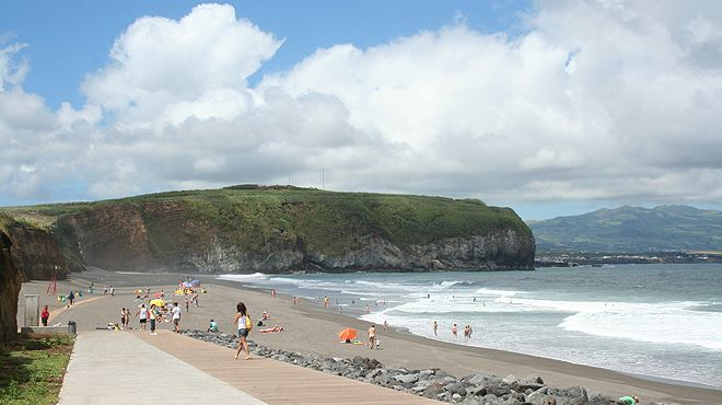 Praia do Areal de Santa Bárbara Место: Ribeira Grande - São Miguel Фотография: ABAE