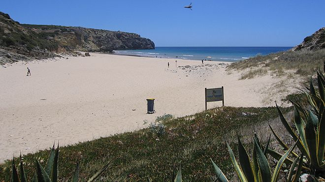 Praia da Ingrina Local: Vila do Bispo Foto: Teresa Cabaço