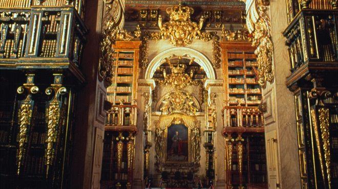 Biblioteca Joanina - Universidade de Coimbra Plaats: Coimbra Foto: TdP