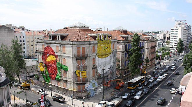 Os Gêmeos Lieu: Lisboa Photo: Leonor Viegas