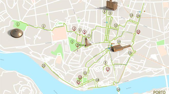 Mapa do Porto - Itinerário Acessível Photo: ICVM