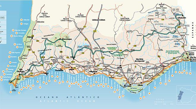 Cartina Geografica Algarve.Cartina Dell Algarve Www Visitportugal Com