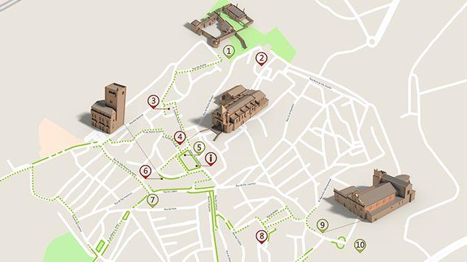 Mapa de Elvas - Itinerário turístico acessível Photo: ICVM