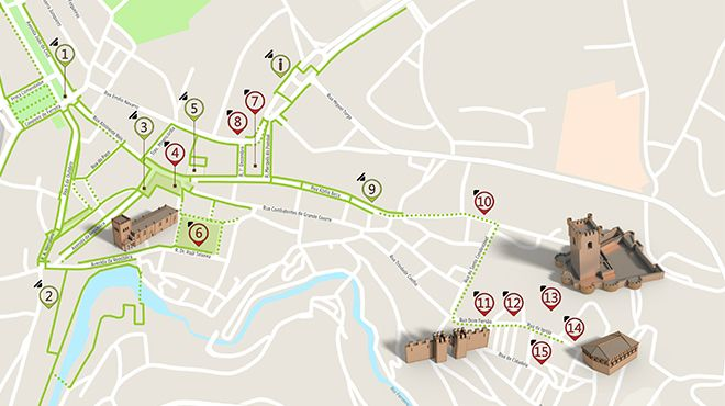 Mapa de Bragança - itinerário turístico acessível  照片: ICVM