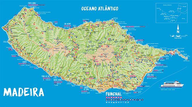 Mapa da Ilha da  Madeira Place: Madeira Photo: Mapa da Ilha da  Madeira