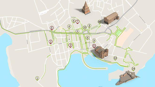 Mapa de Angra - Itinerário Acessível Foto: ICVM