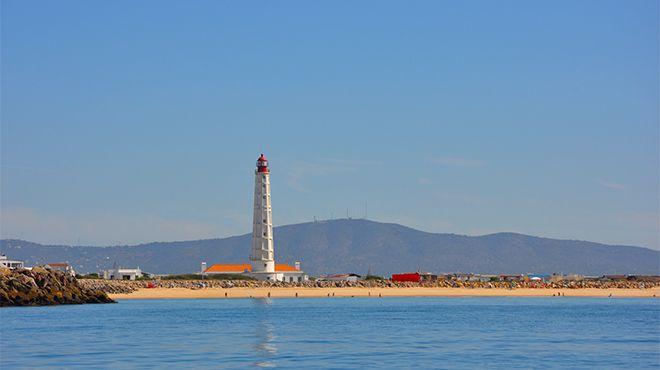 Praia da Ilha do Farol Lugar Faro Foto: Turismo do Algarve