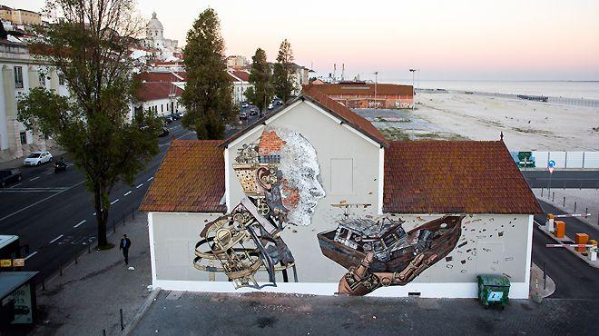 Vhils / Pixel Pancho Lugar Lisboa Foto: Alexander Silva