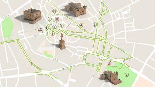 Mapa Viseu - itinerario turistico acessivel