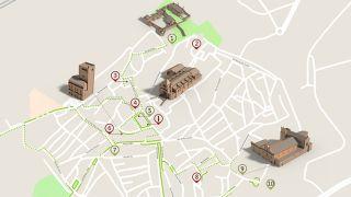 Mapa de Elvas - Itinerário turístico acessível Foto: ICVM