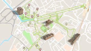 Mapa de Aveiro - Itinerário Acessível  Ort: Aveiro Foto: ICVM