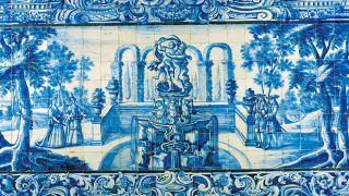 Painel de Azulejos Local: Palácio Olhão Foto: António Sacchetti
