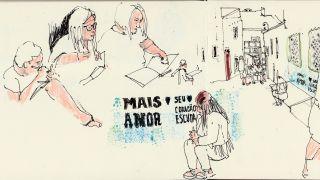 Urban Sketchers nos Açores  Local: Ilha Terceira, Açores Foto: Alexandra Baptista
