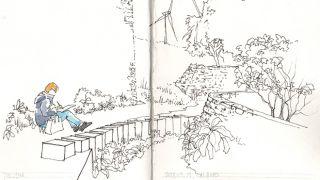Urban Sketchers - Linda Toolsema by Pedro Cabral  写真: Pedro Cabral