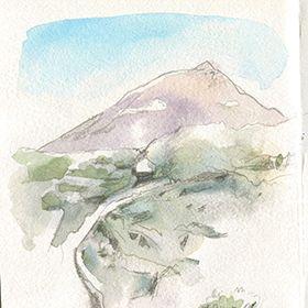 Urban Sketchers nos Açores - Jenny AdamLocal: Ilha do Pico, AçoresFoto: Jenny Adam