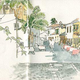 Urban Sketchers - Madeira - Ea Ejersbo - FunchalLocal: FunchalFoto: Ea Ejersbo