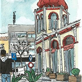 Urban Sketchers - Hélio Boto - Loulé Local: AlgarveFoto: Hélio Boto