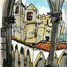 Urban Sketchers - Inma Serrano - Convento de CristoLocal: TomarFoto: Inma Serrano