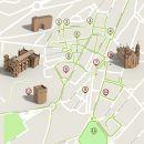 Mapa Guarda - itinerario turistico acessivel