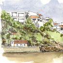 Urban Sketchers - Pedro Cabral - Odeceixe Local: Odeceixe / Rota Vicentina Foto: Pedro Cabral