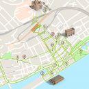 Mapa de Viana do Castelo - itinerário turístico acessível Photo: ICVM